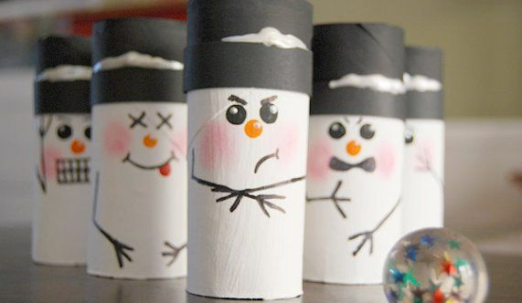 I geared this snowman bowling toward kids crafts and games and the 'tween and teen minions have been playing this game for several days now.