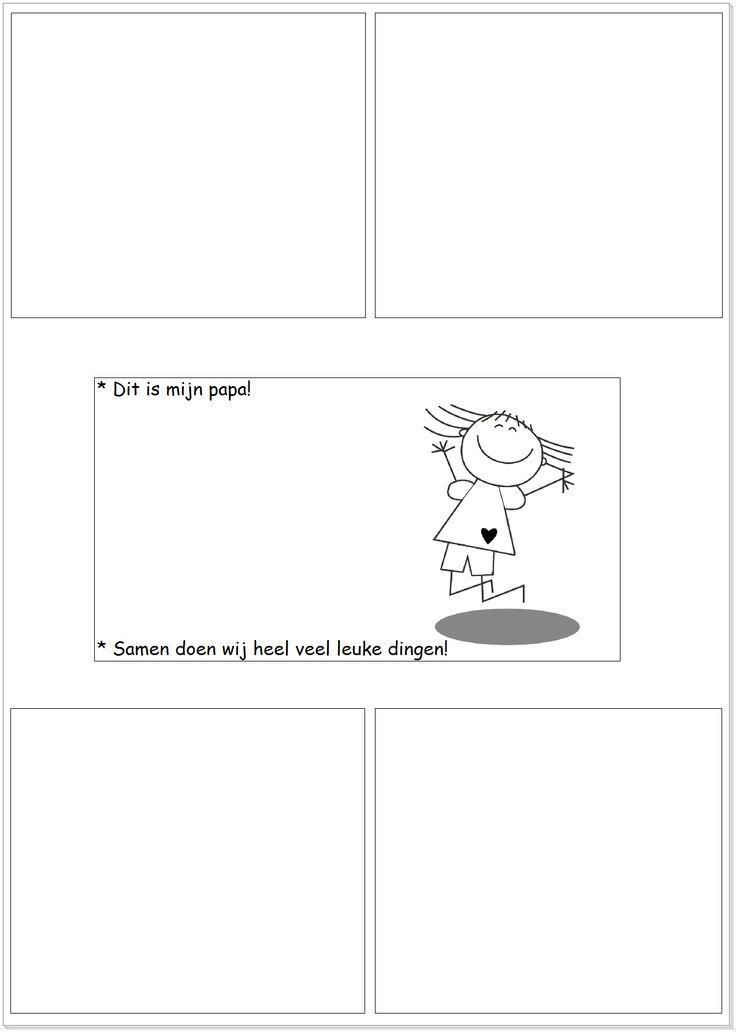 * In ieder vakje laten tekenen of kn/pl wat ze graag samen met hun vader doen!