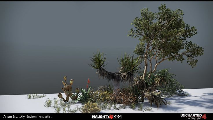 ArtStation - Uncharted 4 - vegetation, Artem Brizitskiy