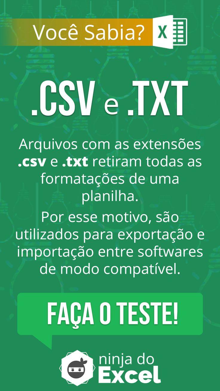 [Curiosidade] Arquivos de Extensão CSV e TXT