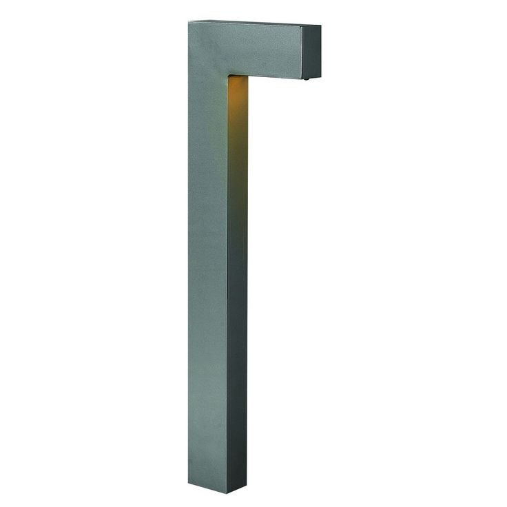 Sleek modern path light: Hinkley Lighting Modern LED Path Light with Etched in Hematite Finish 1518HE-LED