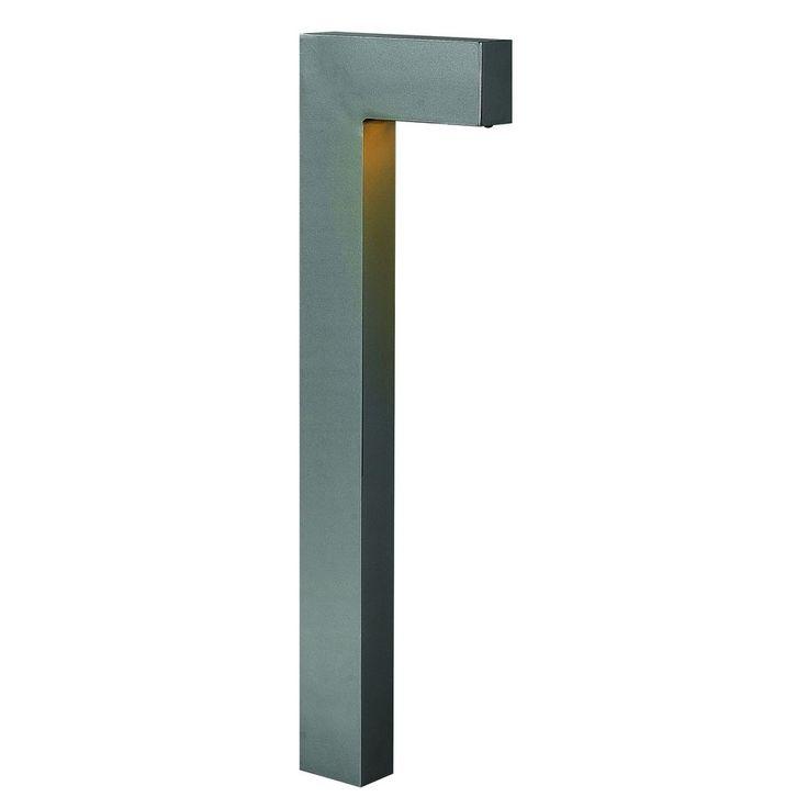 Sleek modern path light: Hinkley Lighting Modern LED Path Light with Etched in Hematite Finish 1518HE-LED