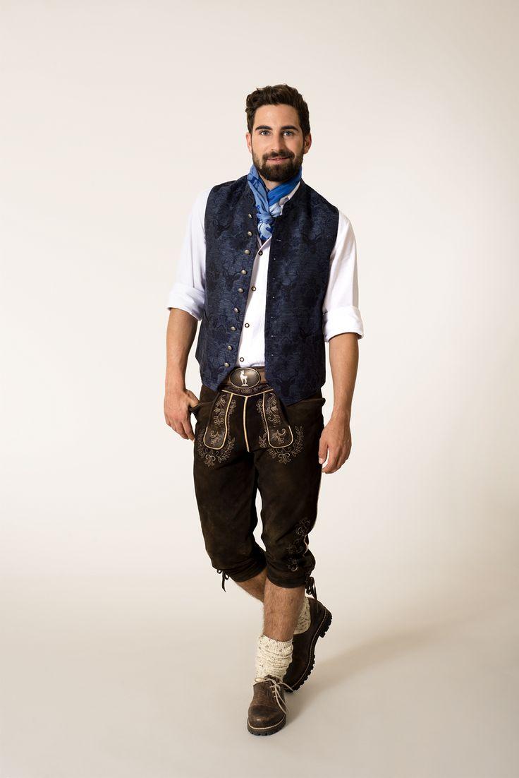 #Herren - #Tracht mit Leinen-Weste - #lederhose #lederhosn #fashion #man #men #mode #herrenmode