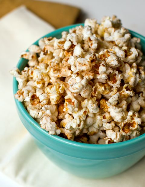 Sweet and spicy popcorn!!  I made it with just cinnamon, sugar and chili powder.  YUM.