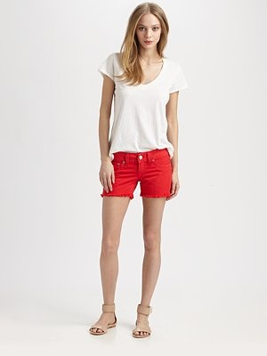 #SaksLLTrip True Religion - Keira Cut-Off Shorts & James Perse Tee - Saks.com: Cut Off Shorts, Luxury Link, Sakslltrip True, True Religion, James Perse, James D'Arcy, Saks Com, Keira Cut Off