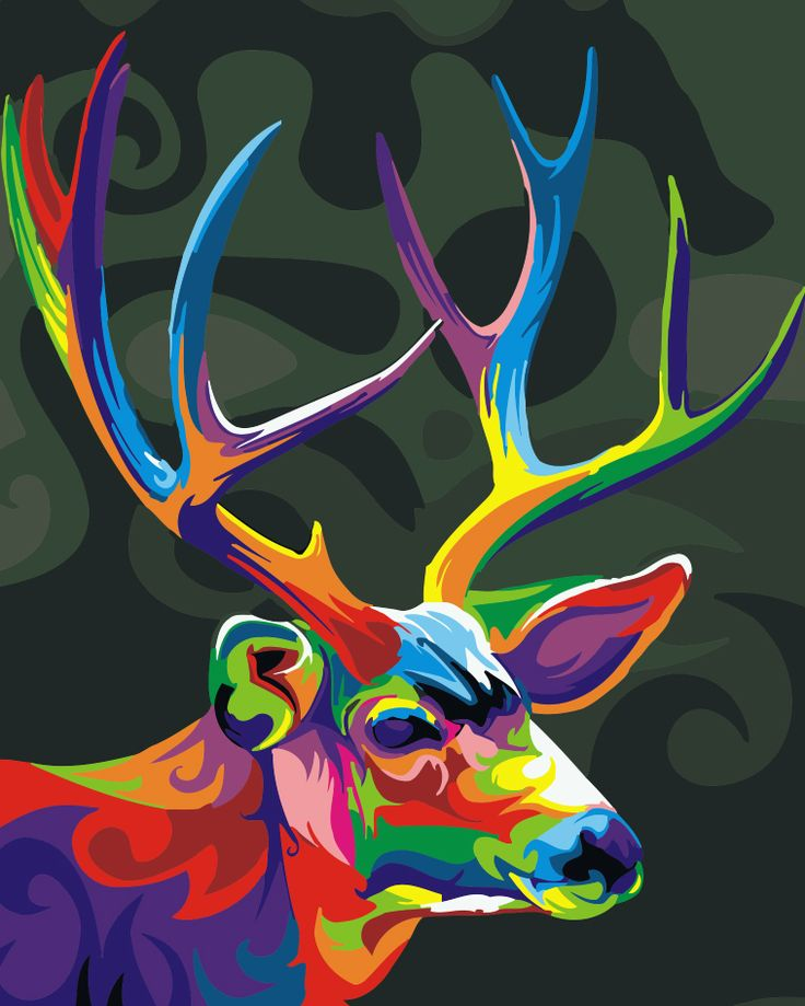 home beauty oil paint painting by numbers diy picture drawing coloring on canvas painting by hand wall paint colourful deer