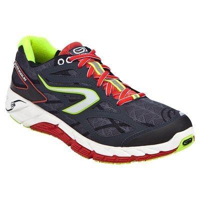 Running_Schoenen Schoenen - ELIORUN heren grijs/rood/g 14 KALENJI - Heren sportschoenen Soooooow leuk!