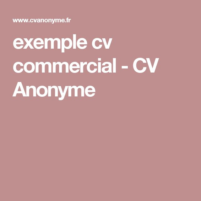 25  best ideas about exemple cv on pinterest