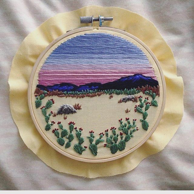 """619 Likes, 12 Comments - Kiki Rose Homer (@kiki.rose.embroidery) on Instagram: """"#tbt because I'm in a cactus mood lately! . . . . . . . #cactus #cacti #desert #southwest…"""""""