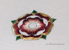 Goldwork & Silk Tudor Rose