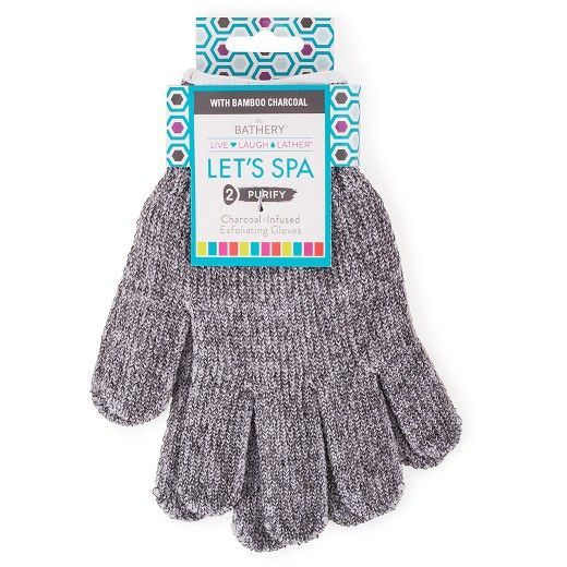 The Bathery® Charcoal Infused Exfoliating Gloves : Target