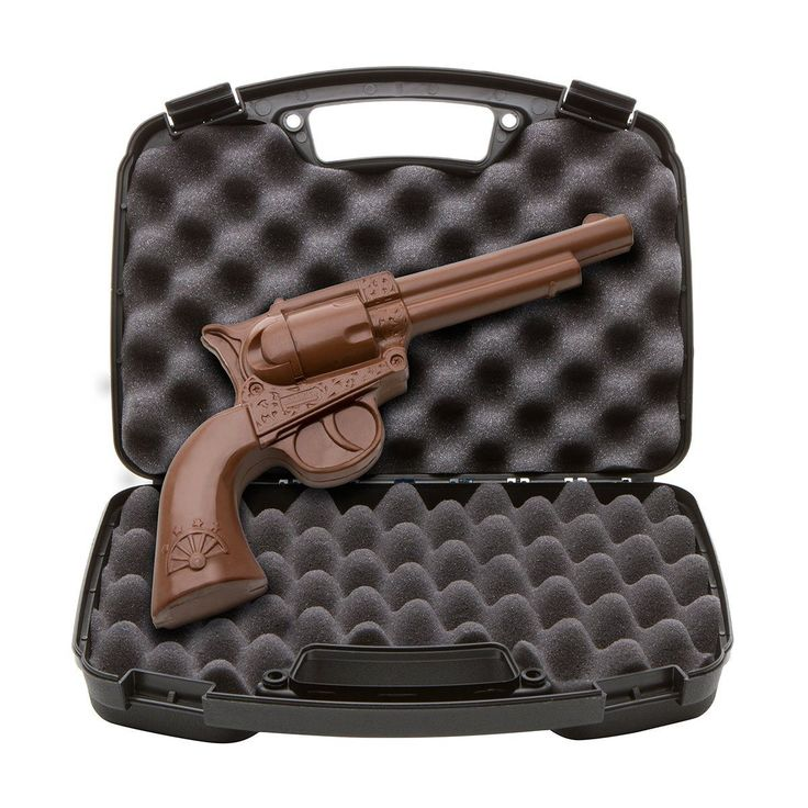 Talk about unique birthday gifts for men! A chocolate gun... seriously??