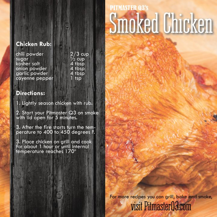 how to cook a whole chicken in a smoker