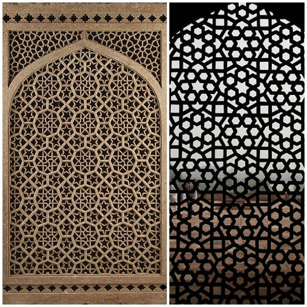 Paint pattern pinterest inspired by indian design mughal for Window design jali