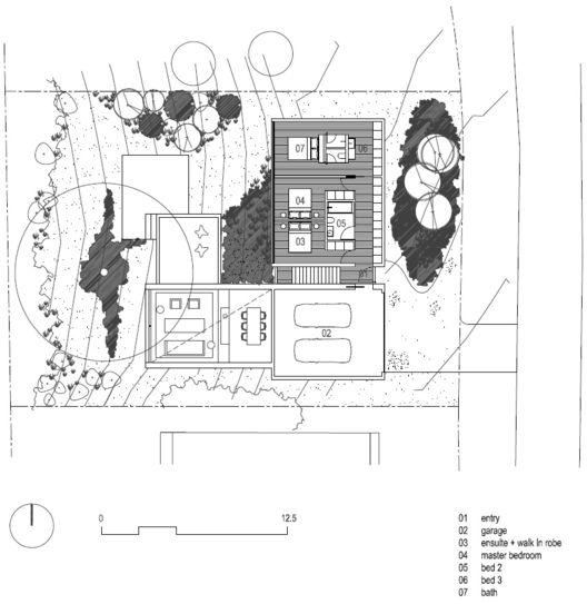 Ridge Road Residence,Upper Floor Plan