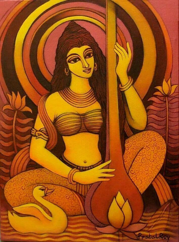 Godess Saraswati,of Education and Art.Hindu