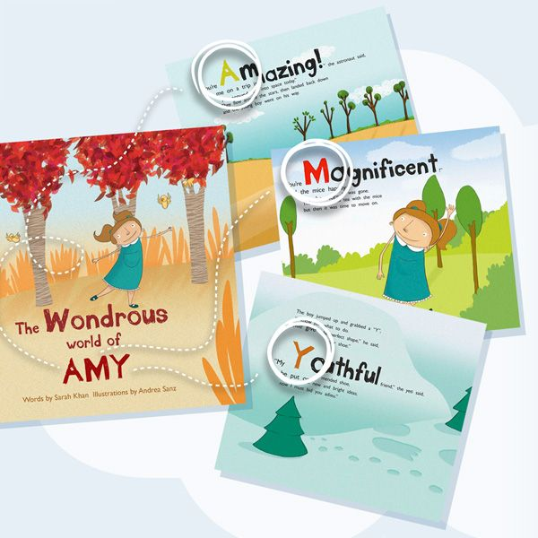 Amazing Personalized Book - beautifully created using each letter of the child's name and hand-illustrated. This would make any child feel special!