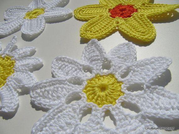Háčkování Vzor Daisy květiny Krásné Háčkování podle LyubavaCrochet