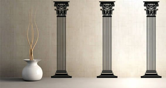 columns wall art modern wall stickers vinyl wall wall on wall stickers painting id=75769