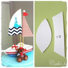How to make a fondant boat 1 – Cake.bg