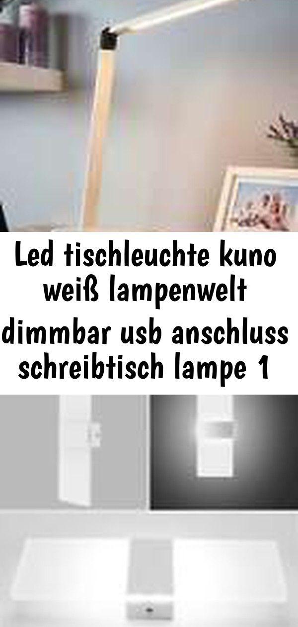 Led Tischleuchte Kuno Weiss Lampenwelt Dimmbar Usb Anschluss Schreibtisch Lampe 18w Led Wandleuchte Innenleuchte Fluter Wohnzimmer Lampe Licht Kal Decor
