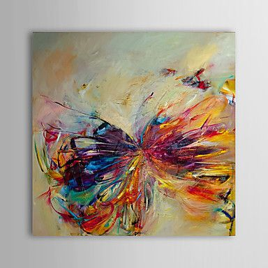 Hand Painted Oil Painting Abstract Butterfly Modern Canvas Art Ready to Hang – USD $ 69.99