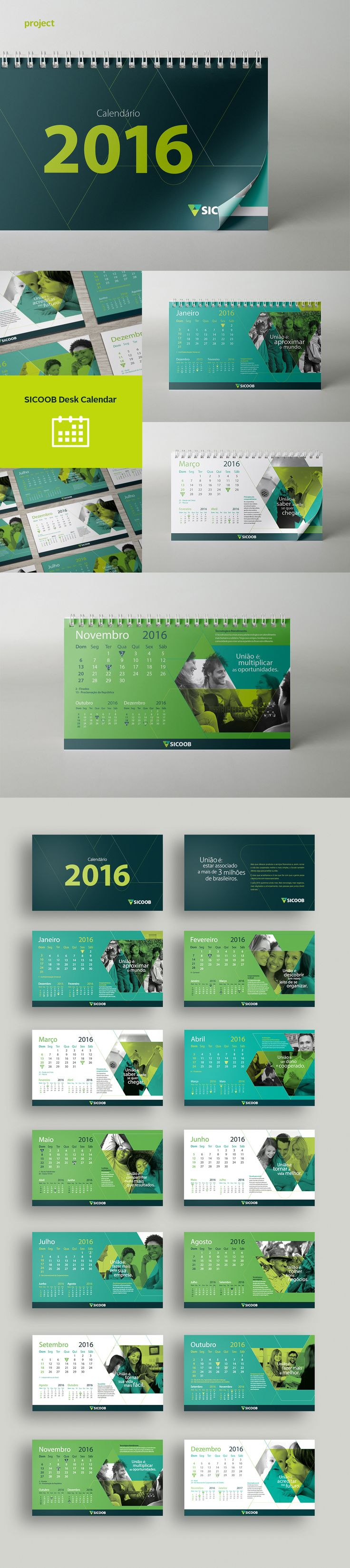 Desk Calendar on Behance