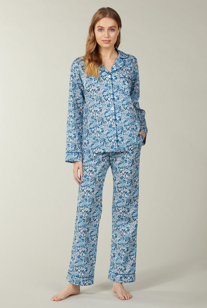 ed55315e Liberty Fabrics Elysian Day Cotton Long Sleeve Classic PJ Set ...