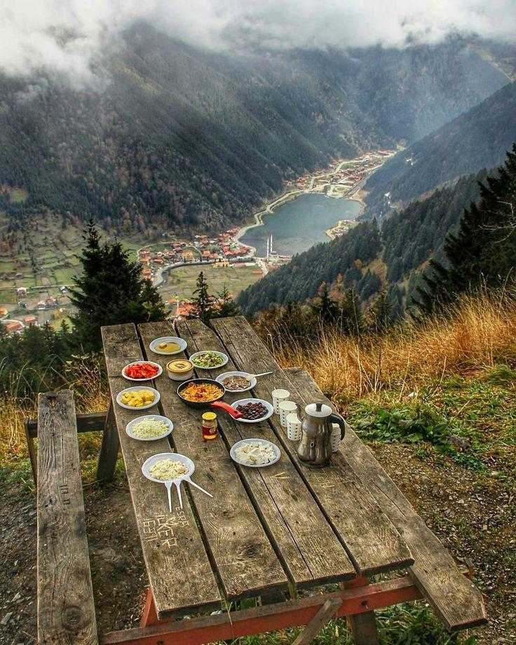 Little outdoor meal in Turkey