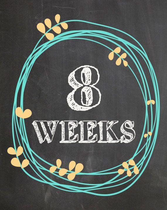 Weekly Pregnancy Countdown Photo Prop #chalkboard #chalkboardprint #printables