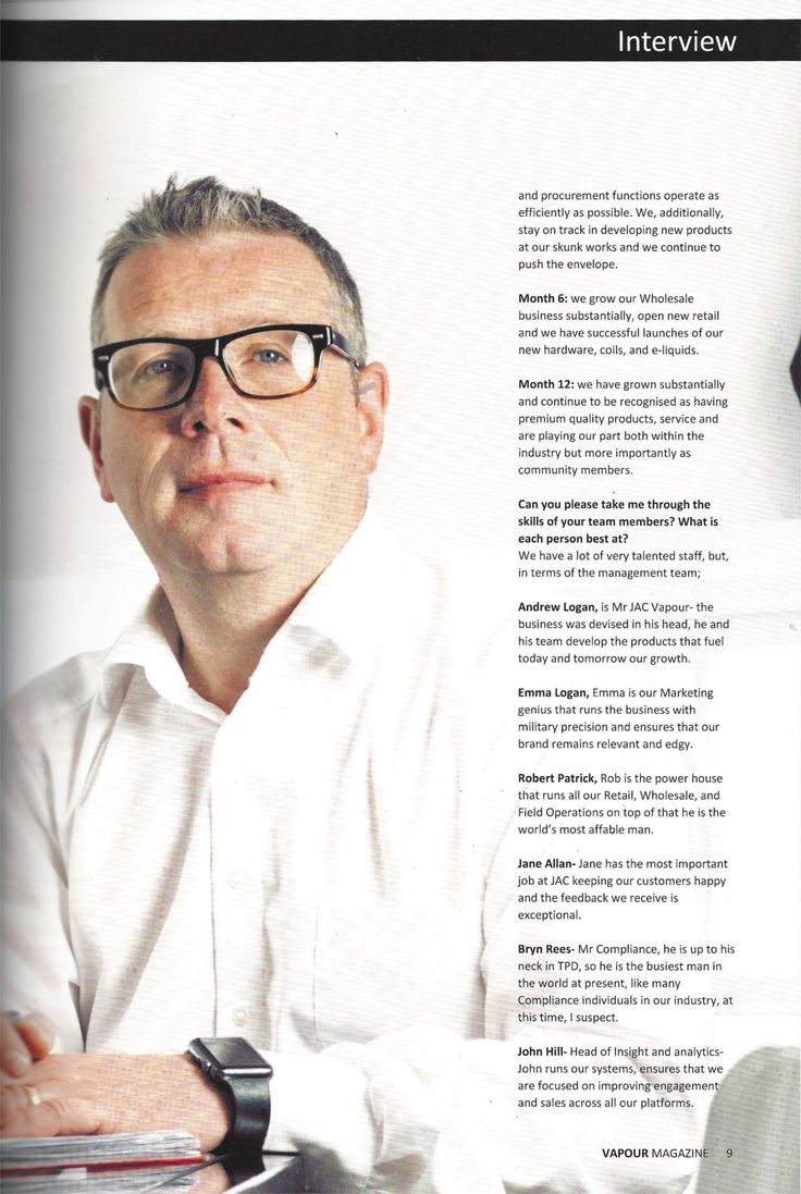 JAC's own Neil McCallum appears in this month's Vapour Magazine. Check out his interview today!   #vapeon #ecigs #ecigarettes #vapefam #vaping #vapour #vapeshops #jacvapour