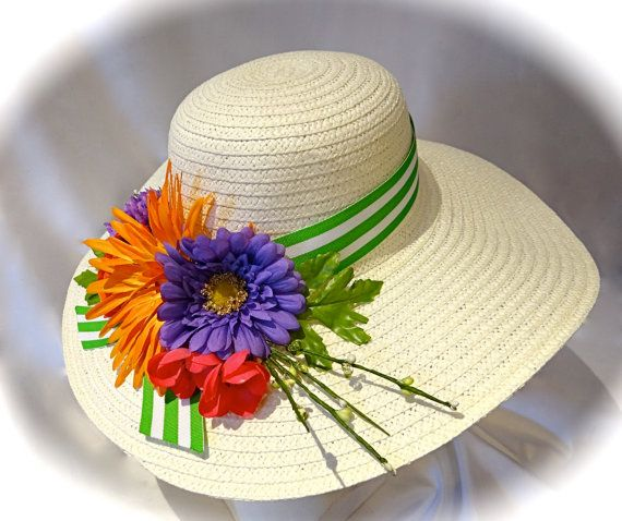 17 Best 1000 images about Garden hats floral on Pinterest Derby hats