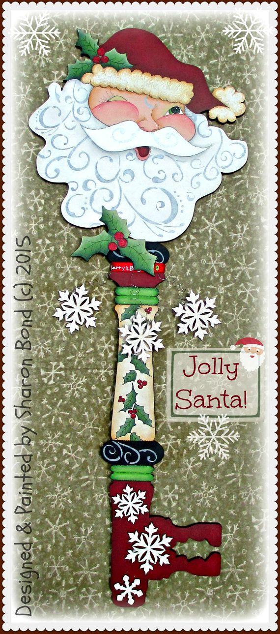 E PATTERN  Jolly Santa  Large Santa Christmas Key with by skb007