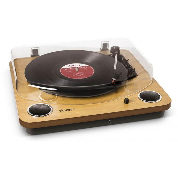 Vitrola Toca Discos Retro com Entrada AUX e Conversão MP3 via USB ION MAXLP