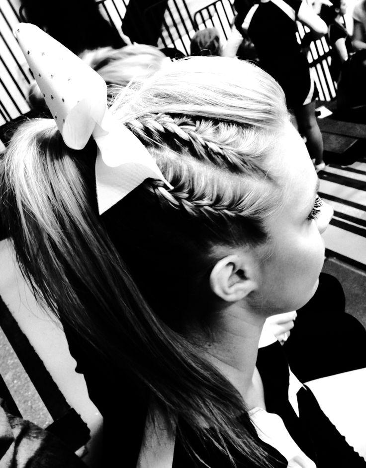 Braided cheer hair! | Special Occasion Hair!! | Pinterest ...