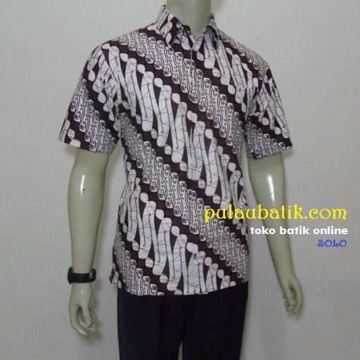 Cara Mengikat Kain Batik Pria: HEM BATIK PRIA MOTIF PARANG MODERN TERBARU RC531 Batik