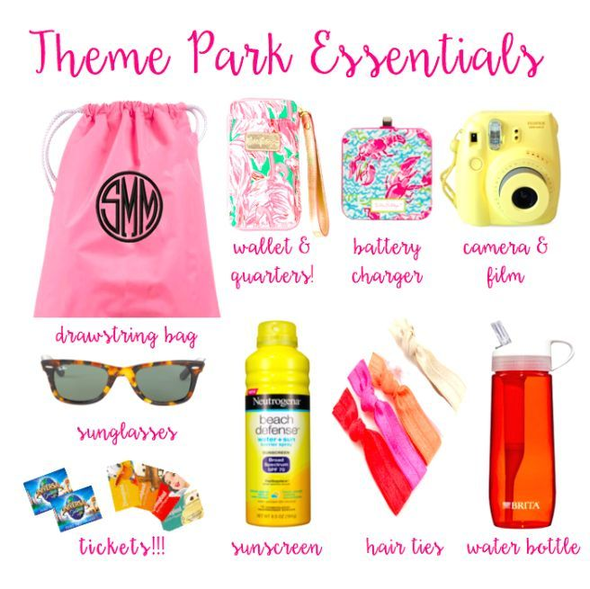Theme Park Essentials for Disney, Universal, and Islands of Adventure! What to Pack for Theme Parks #Disney #Universal #ThemePark #Essentials