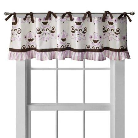 my-baby-sam-baby-love-curtain-valance-brown-cream