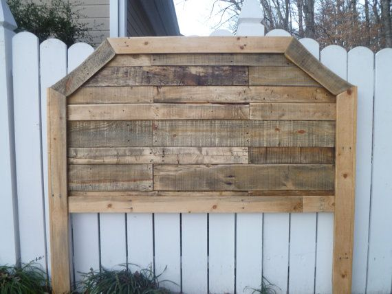 Natural Curved Queen Pallet  headboard
