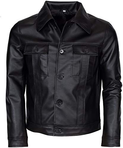 Buy Elvis Presley Inspired Mens Black Genuine Leather ...