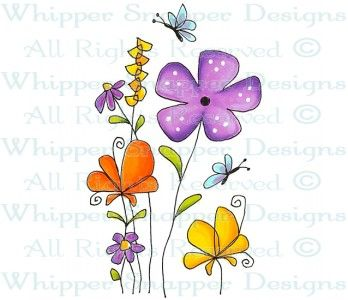 Spring is Here! - Whimsical - Floral/Garden - Rubber Stamps - Shop