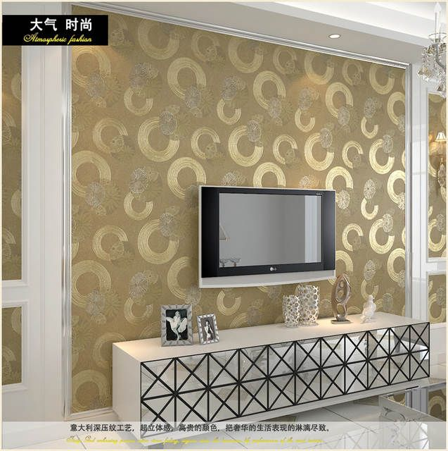 Online Shop Modern Brief Gold Wallpaper Silver Grey Entranceway Sofa Wall Tv Background Wall Wall Texture Design Asian Paints Wall Designs House Ceiling Design