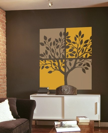 There'd only be room for ONE tree decal in the apartment. Toss up!