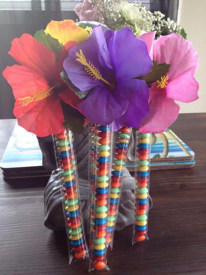 Hawaiian candy treat tubes