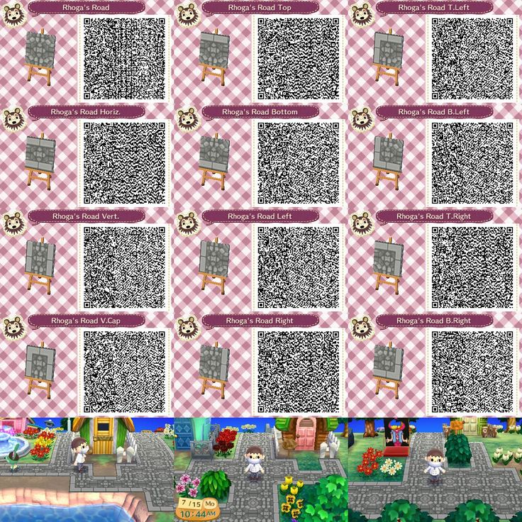 Animal crossing new leaf qr code paths pattern photo for Agrandissement maison animal crossing new leaf