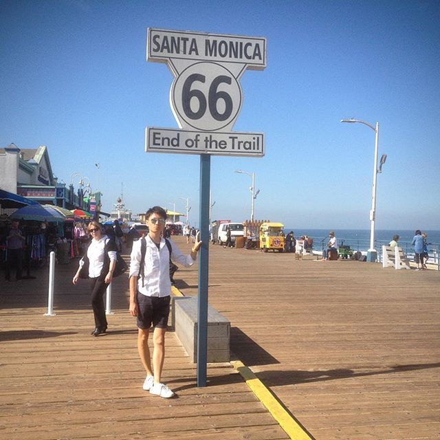 【r.j115】さんのInstagramをピンしています。 《SANTA MONICA×ROUTE 66 END OF THE TRAIL SIGN  #綺麗な海、人、街#気持ちいい気候#海辺に必ず住む#サンタモニカ#ゴール#ルート66#海 #ビーチ #リゾート # #モデル#LA#SANTAMONICA#SANTAMONICAPIER#goal#sea#Goodmorning#route66#beach#happy#trip#ootd#beautiful#life#follow#instagood#beautiful#tbt#instatravel#travelphotography#model#sunglasses》