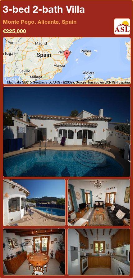 3-bed 2-bath Villa in Monte Pego, Alicante, Spain ►€225,000 #PropertyForSaleInSpain