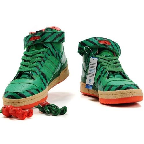 Adidas Consortium Forum Mid Watermelon Design Green Shoes Mens
