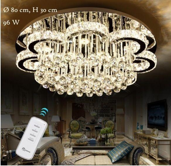 Lampa Led Krysztalowa Zyrandol Ring Cieply Zimny 8504626404 Oficjalne Archiwum Allegro Ceiling Lights Led Light