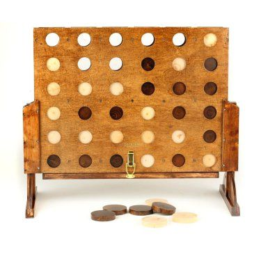 Jaques Master Score 4. A connect four like game made out of wood